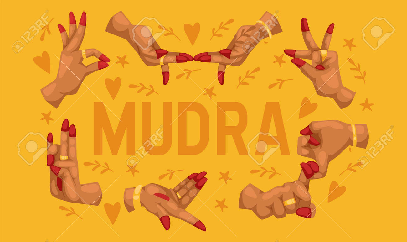 Mudra Pattern Indian Hands Vector Yoga Meditation Fingers Gesture Royalty Free Cliparts Vectors And Stock Illustration Image 123109561