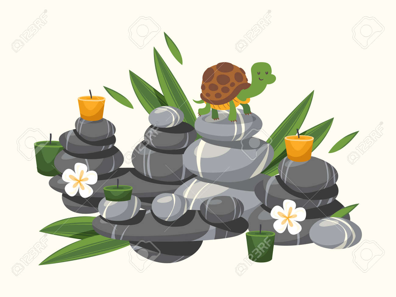 Spa Spas Candles Candle Burning Burnings Beauty Spa Bamboo Leaf Spa Concept  Free Vector Graphics, Clip Art, Icons, Photos and Images | StockUnlimited