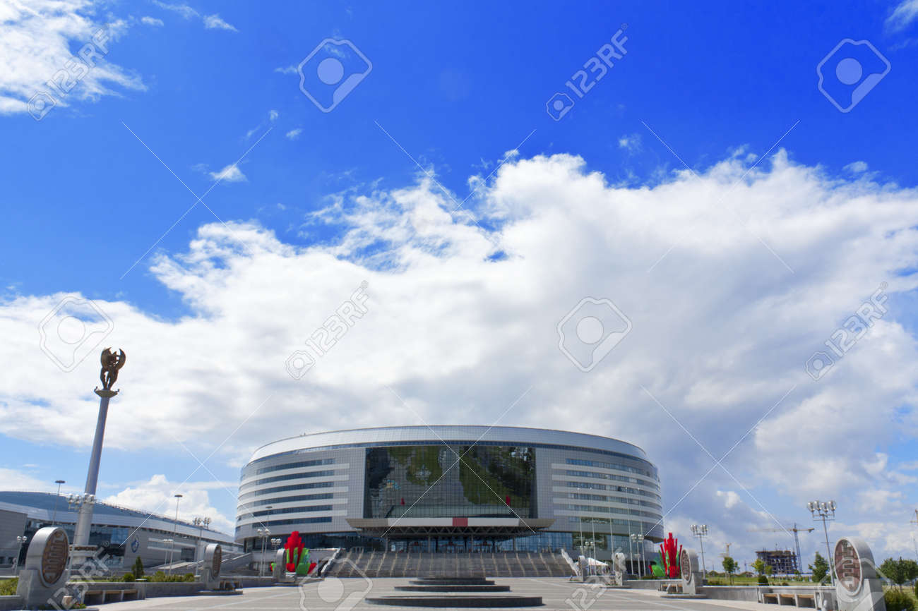 Minsk-Arena modern hockey stadium in Minsk Belarus Stock Photo - 14466579