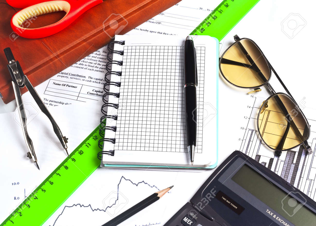 Business still life a paper notebook with a pen a diary a stock business still life a paper notebook with a pen a diary a calculator ccuart Gallery