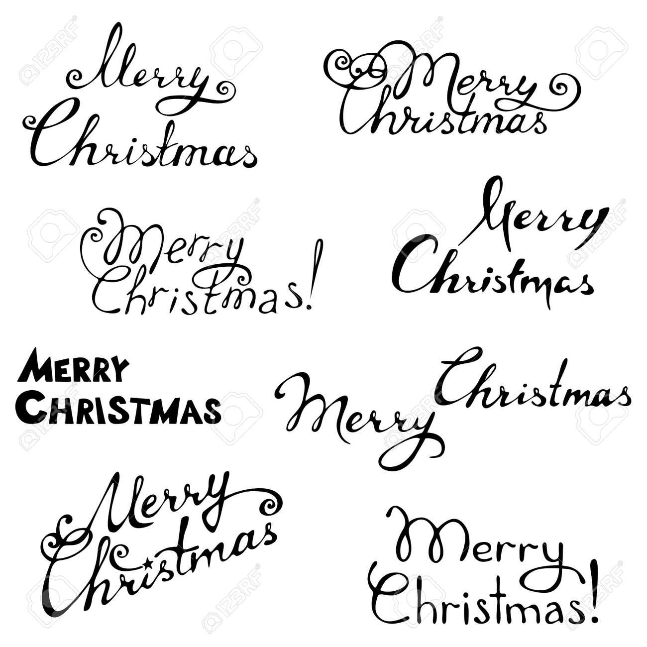 手書きテキストあなたのデザインのベクトル イラストクリスマス