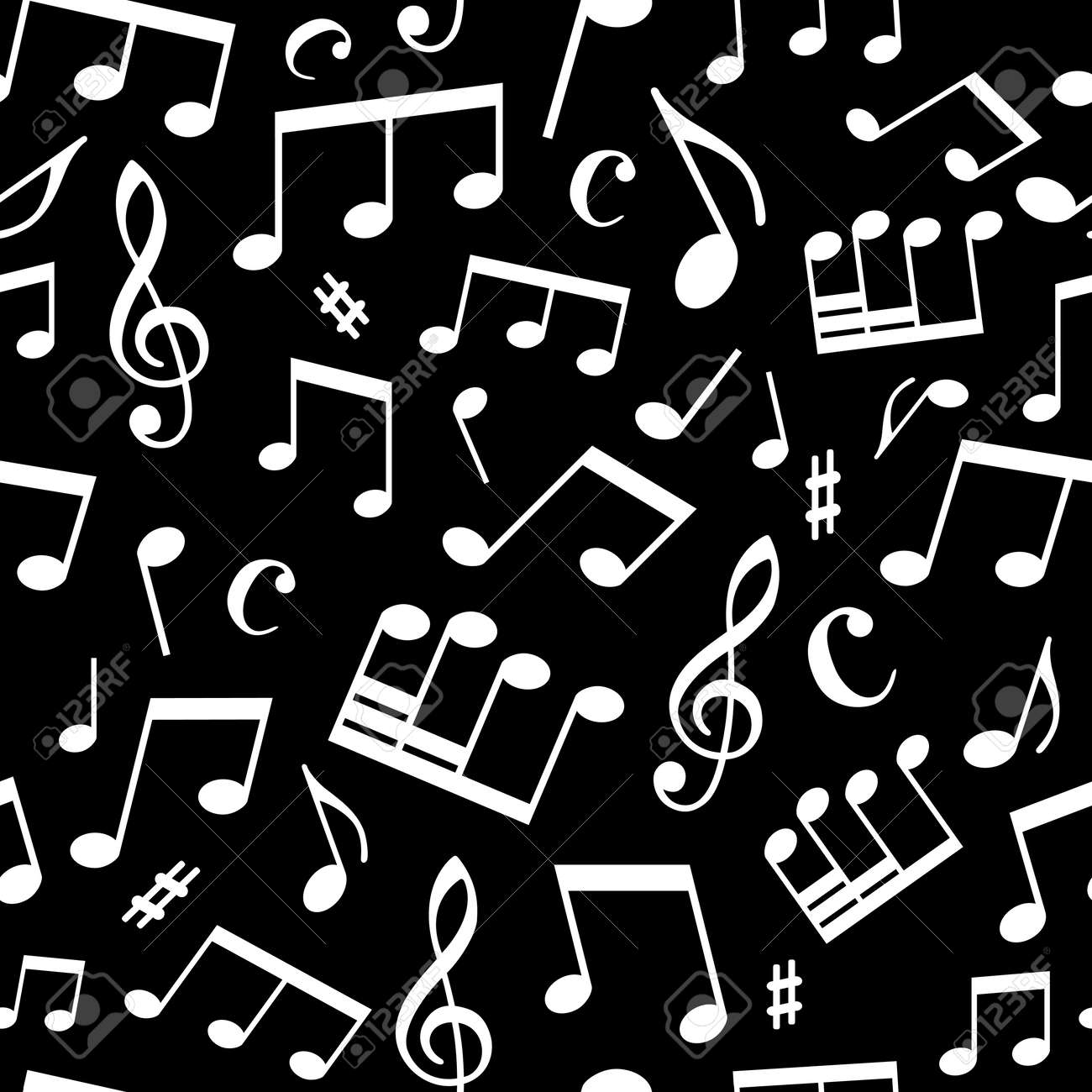 Best Wallpaper Music Black And White - 33673671-white-music-elements-on-black-background-seamless-square-pattern-can-be-used-for-wallpapers-web-page  Pic_486535.jpg