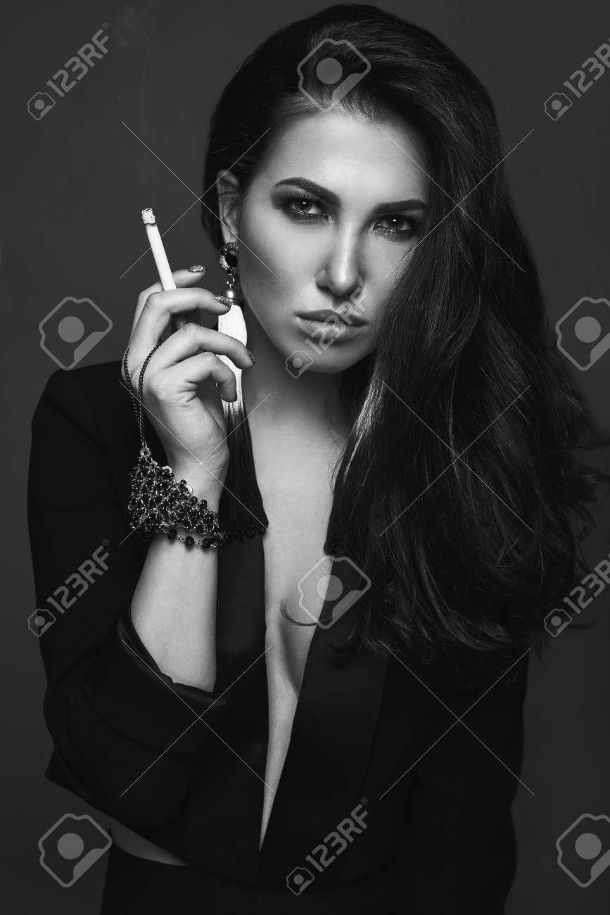 Hot smoking girl