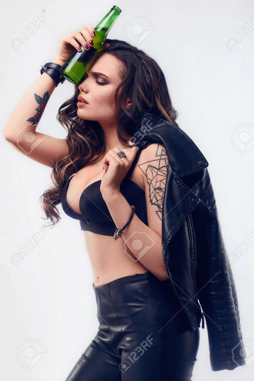 Young Sexy Girl Leather
