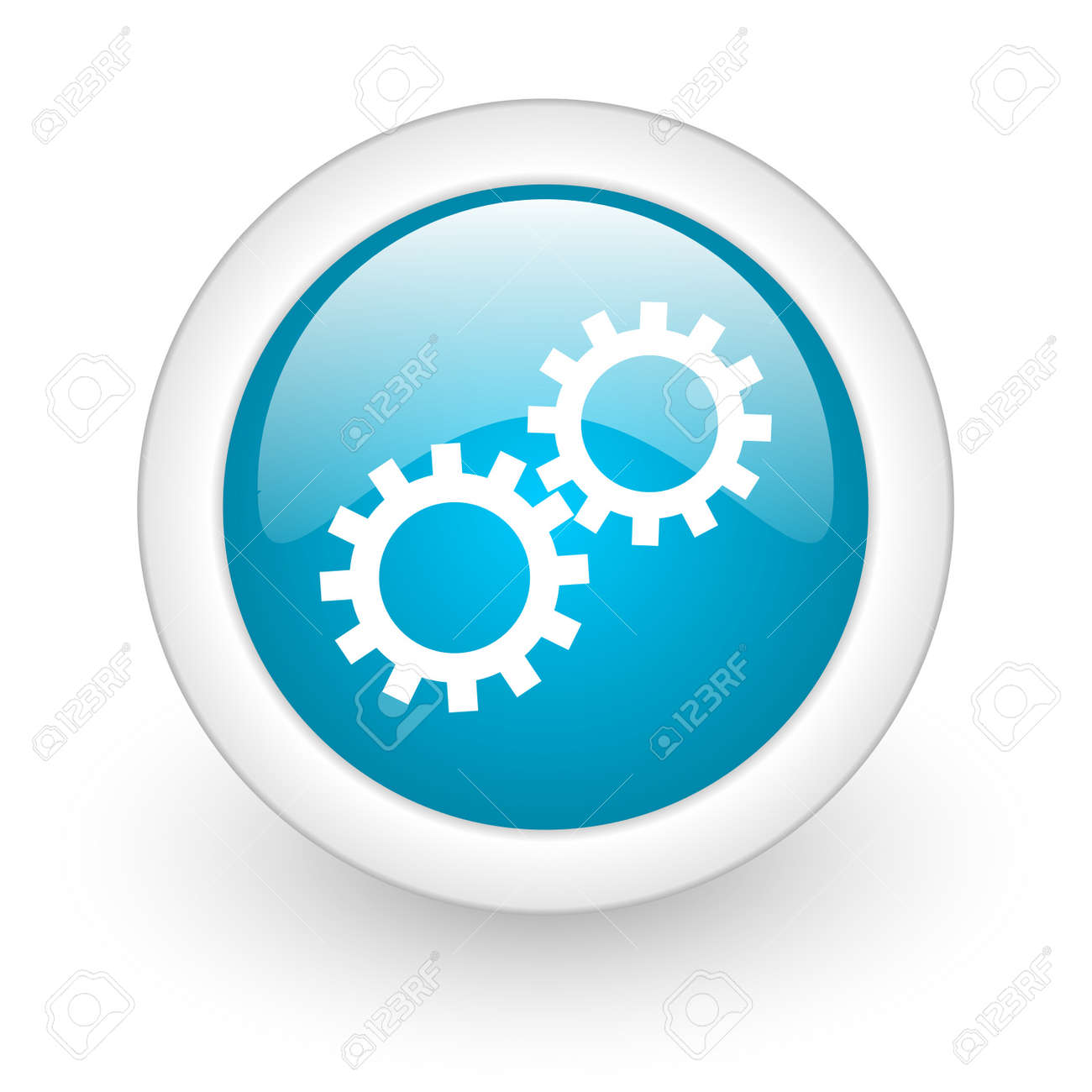 gears web button Stock Photo - 11872077