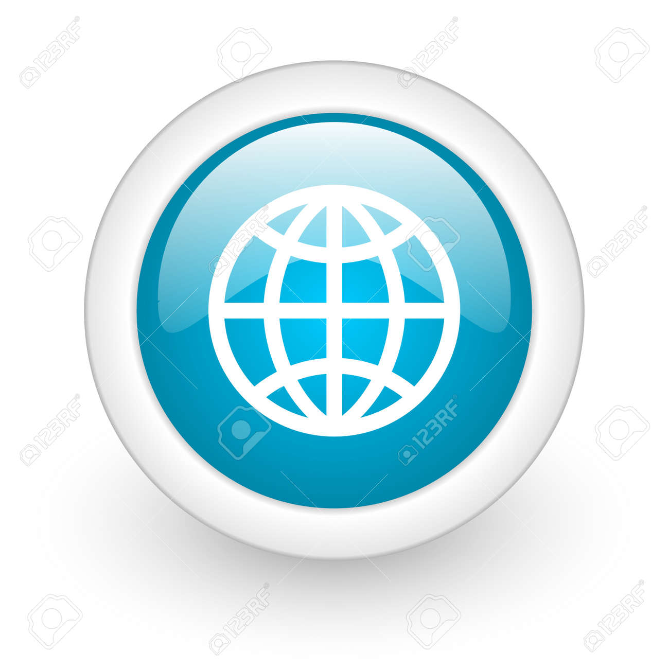 globe web button Stock Photo - 11872079