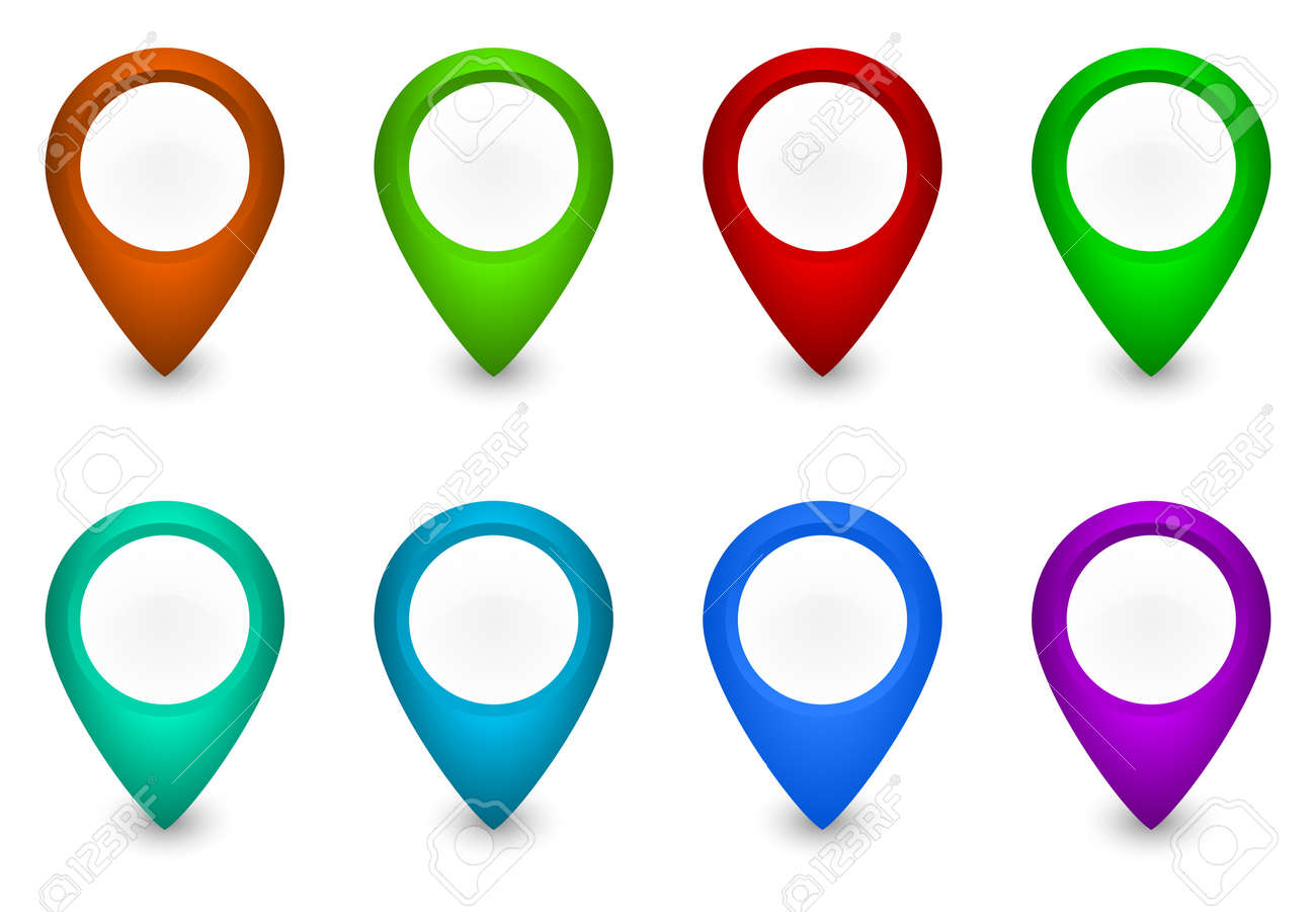 set of colorful pointers Stock Photo - 11872110