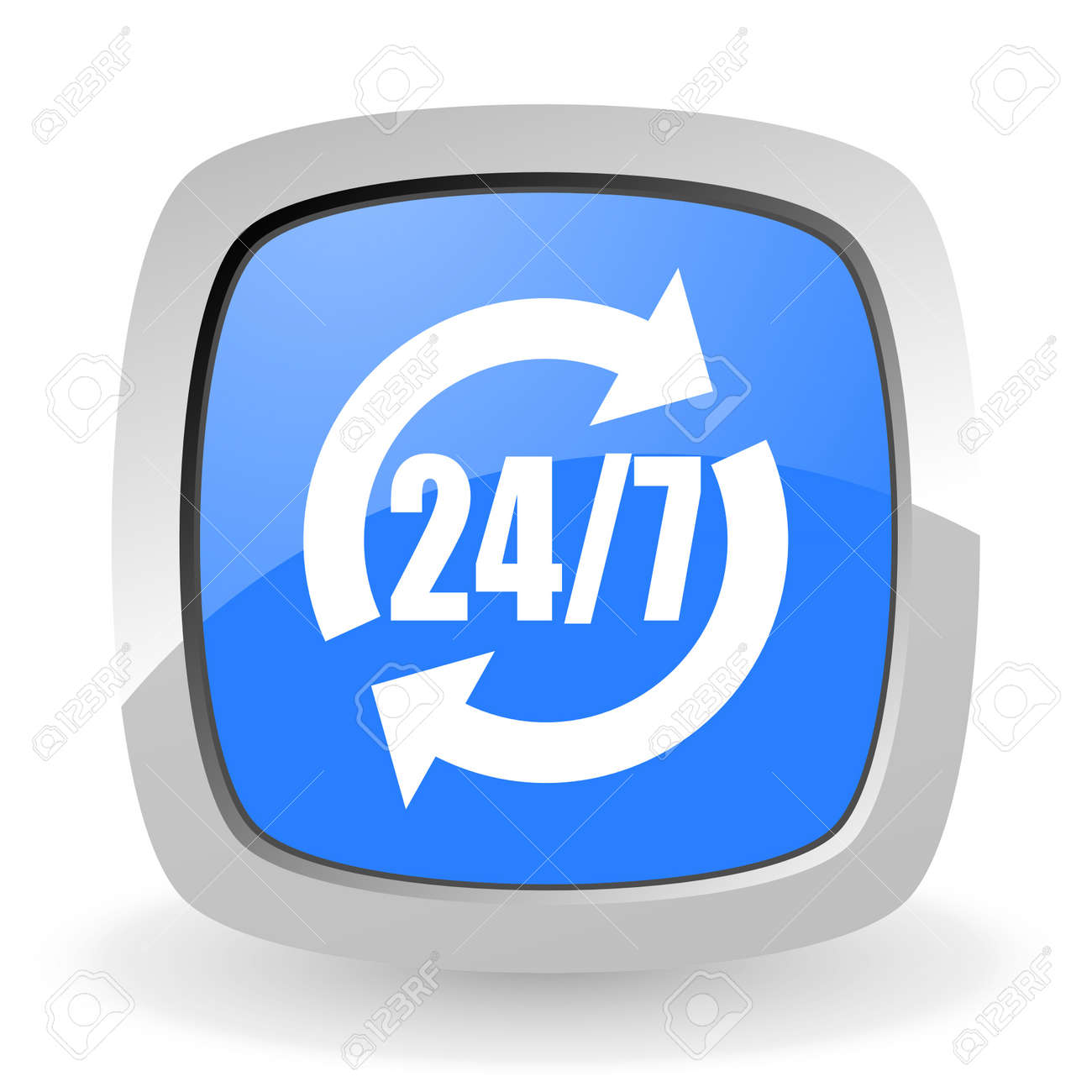 24 7 service icon Stock Photo - 12965816