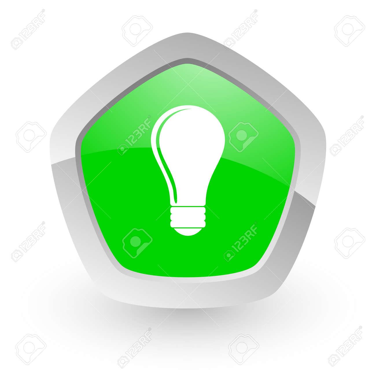 green pantagon icon Stock Photo - 14049133