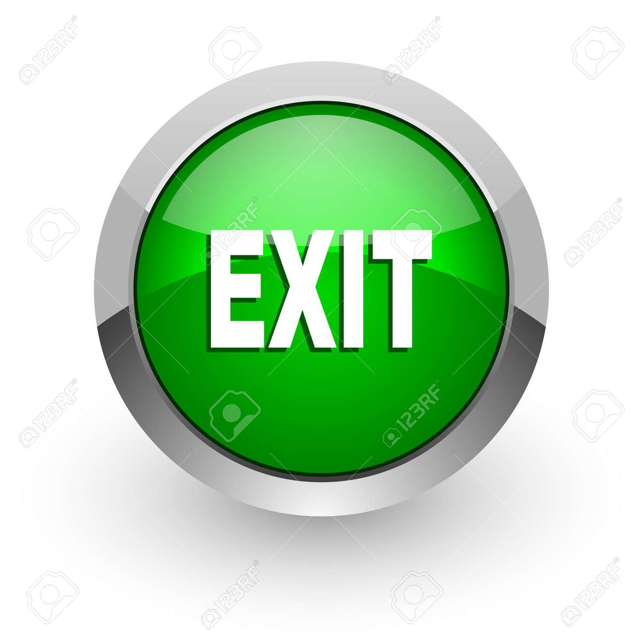 exit icon Stock Photo - 14471598