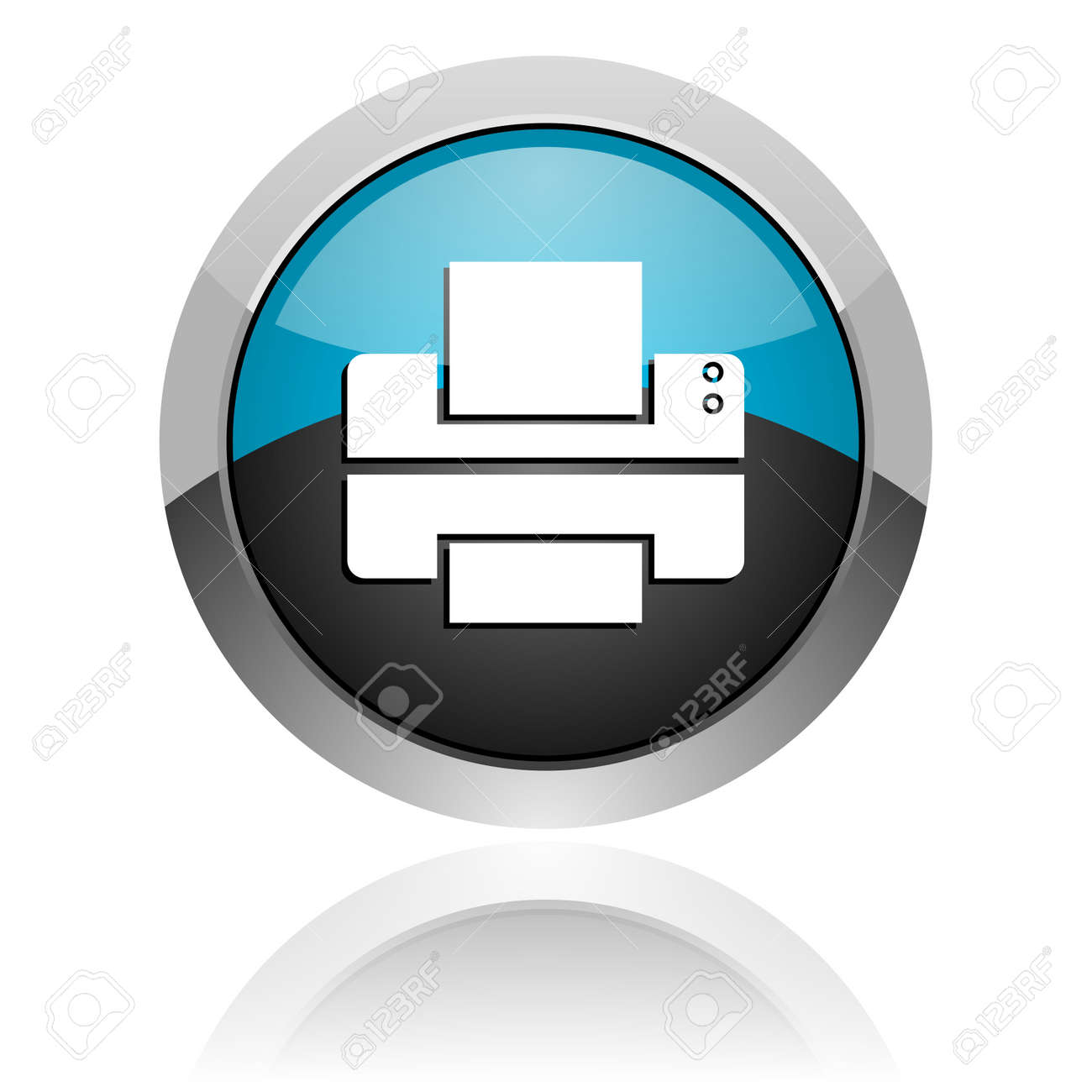 printer icon Stock Photo - 14805191