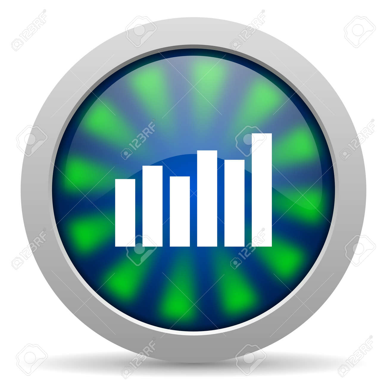 bar graph icon Stock Photo - 15415983