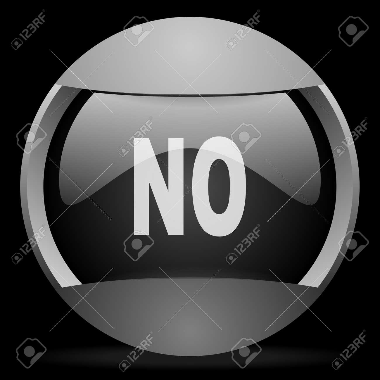 no round gray web icon on black background Stock Photo - 16314499