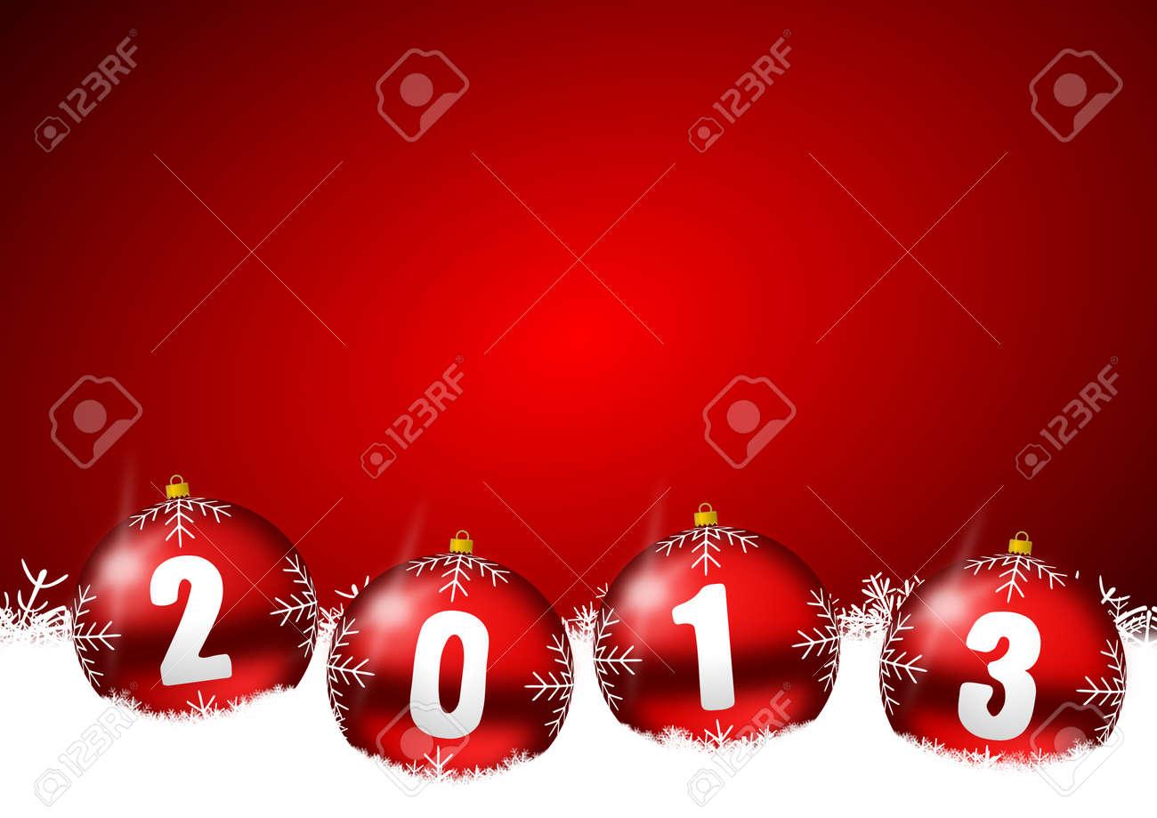 new year illustration with christmas balls Stock Illustration - 16339989