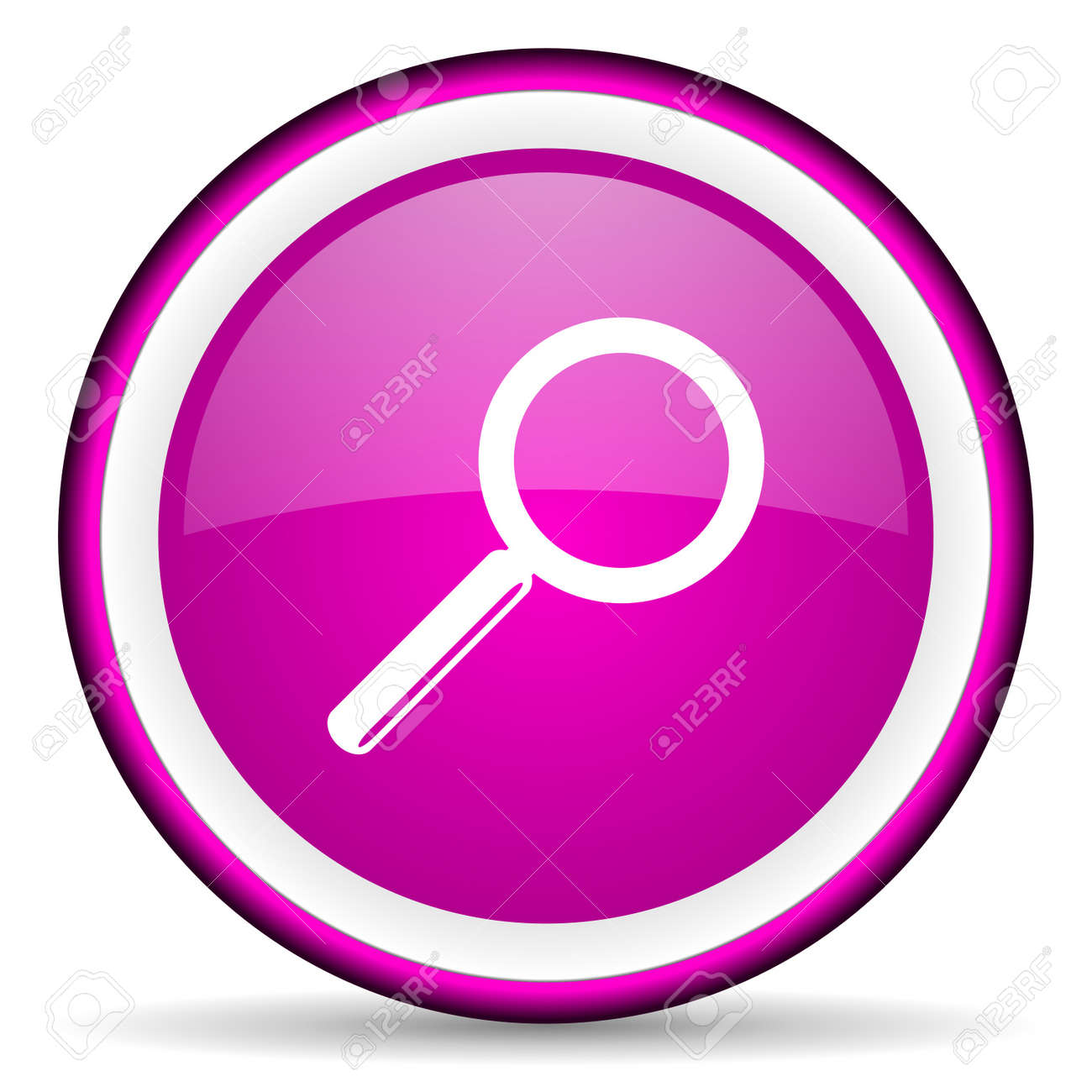 search violet glossy icon on white background Stock Photo - 16680589