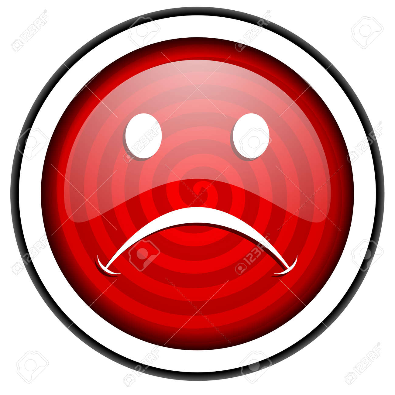 cry red glossy icon isolated on white background Stock Photo - 16975212