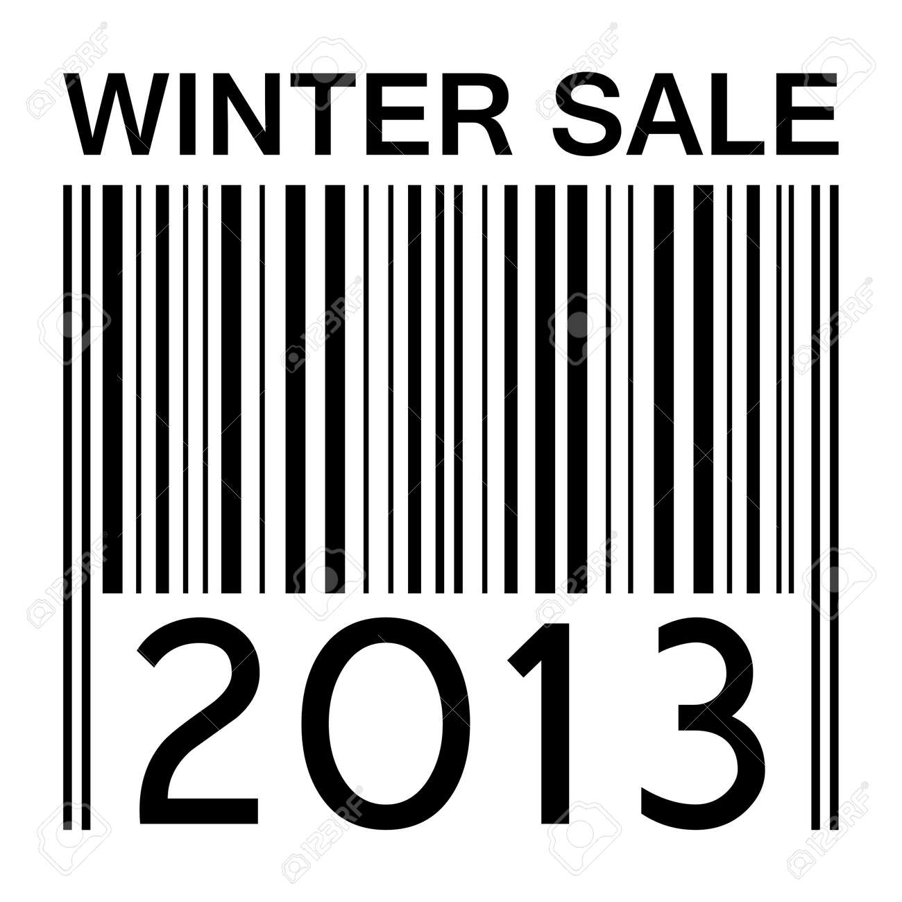 winter sale  banner with barcode Stock Photo - 17066736
