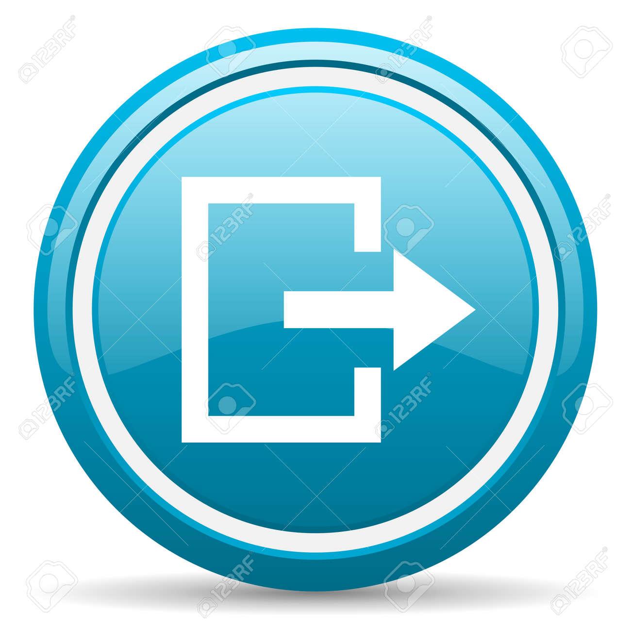 blue circle glossy web icon with shadow on white background illustration Stock Illustration - 17138979
