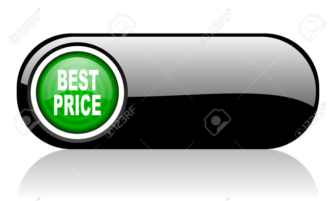 best price black and green web icon on white background Stock Photo - 17508196