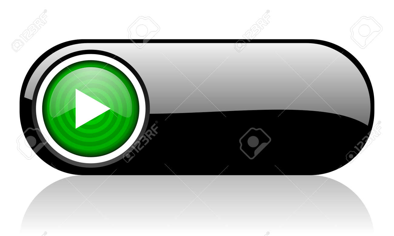 play black and green web icon on white background Stock Photo - 17507343