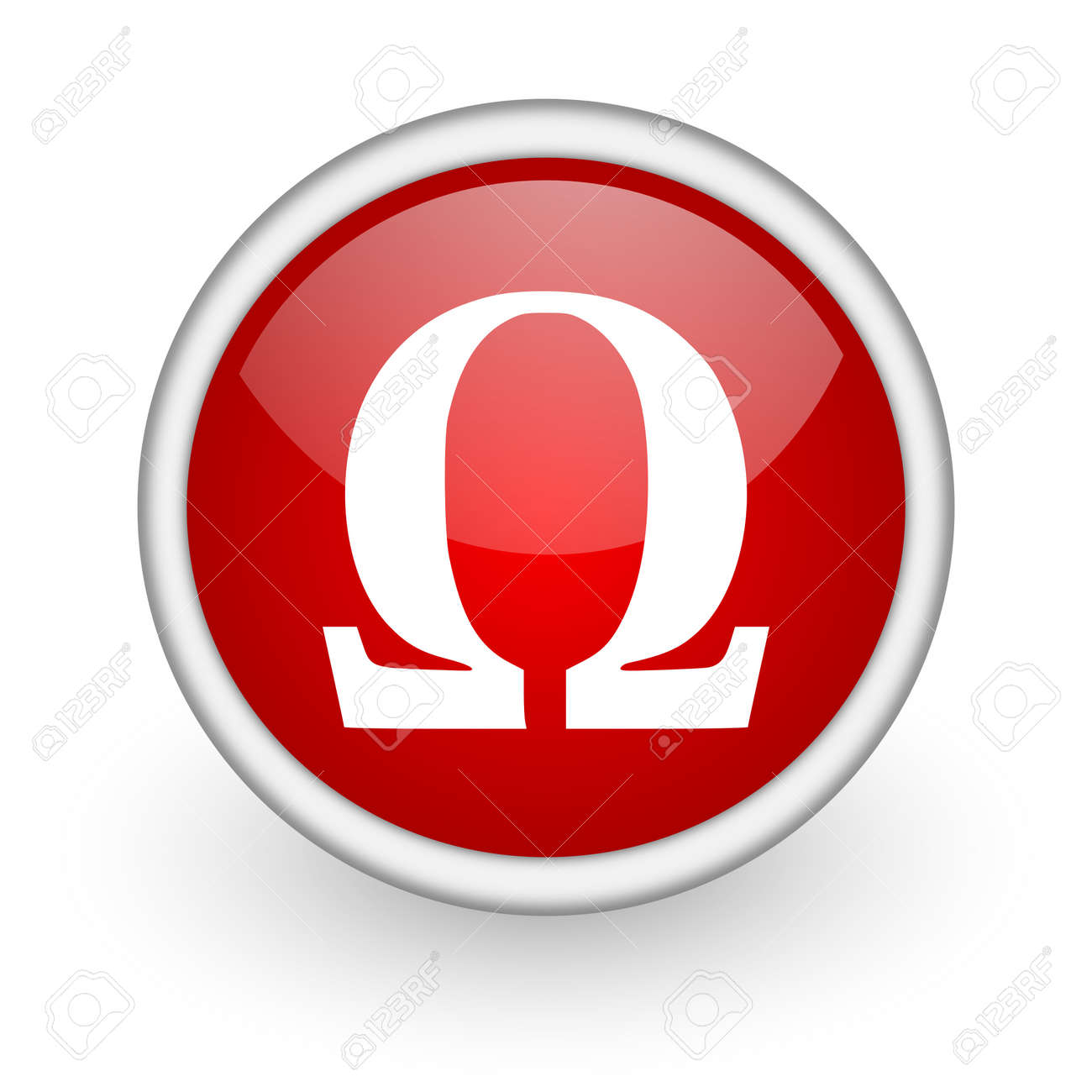 Omega red circle web icon on white background stock photo picture omega red circle web icon on white background stock photo 17518805 buycottarizona