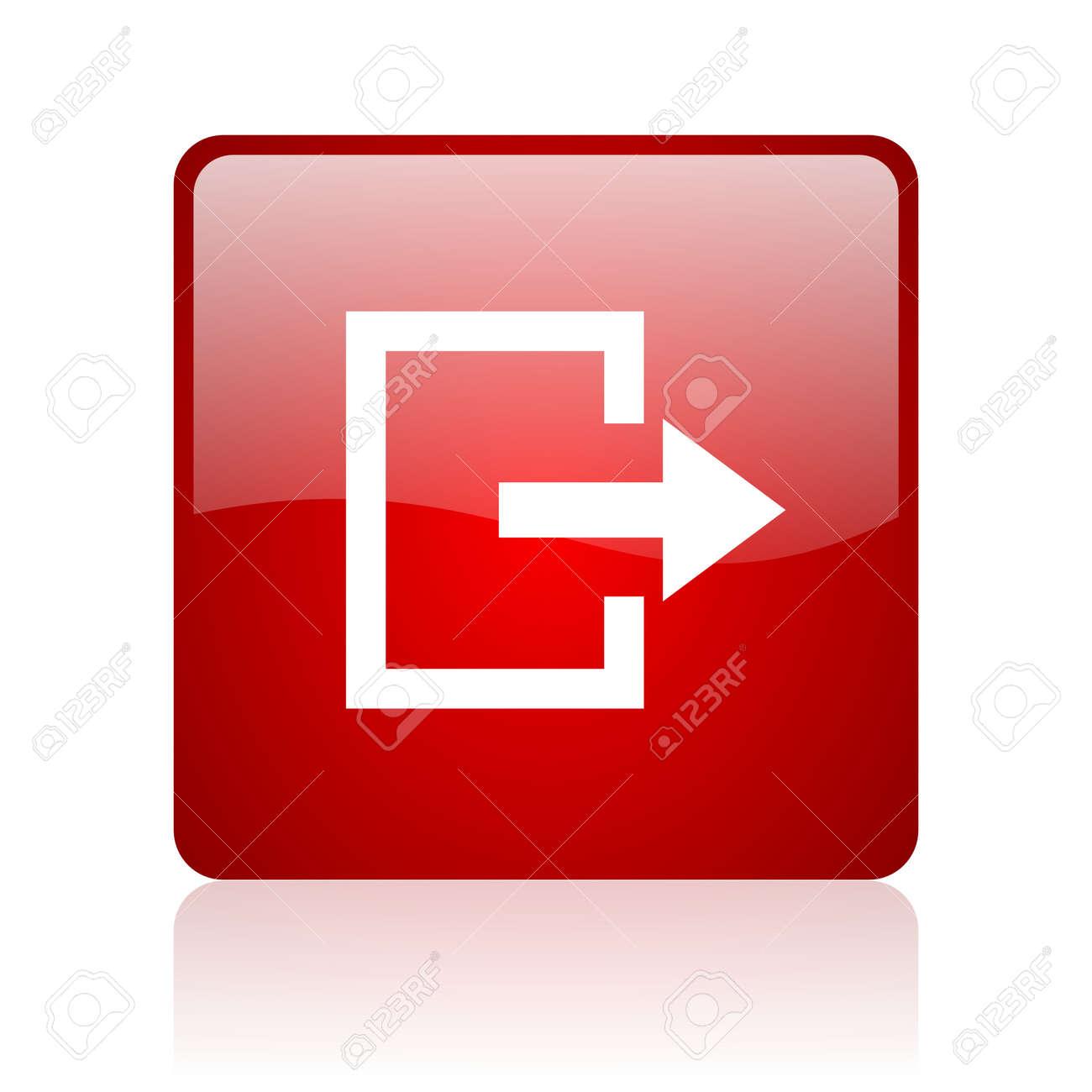 Salir, Salida De Emergencia Icono Dimensional Emblema Brillante ...