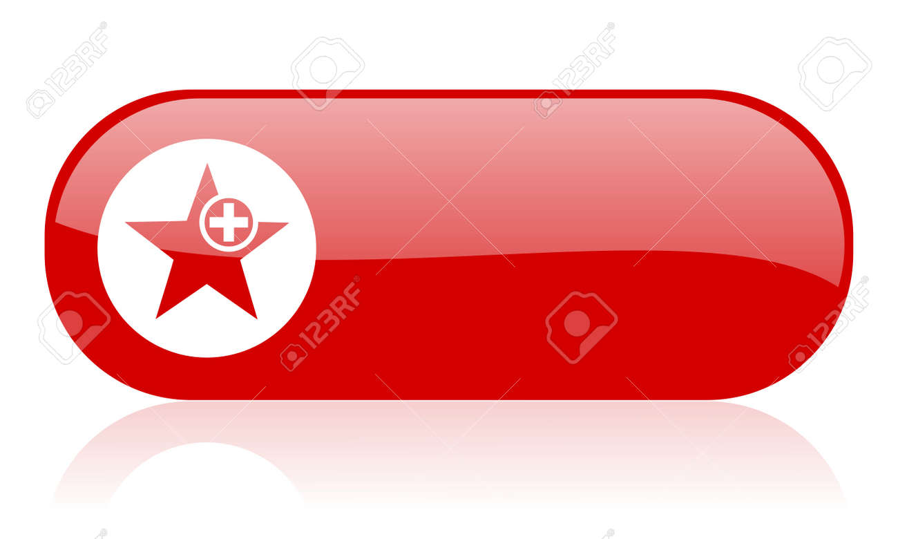 star red web glossy icon Stock Photo - 18361866