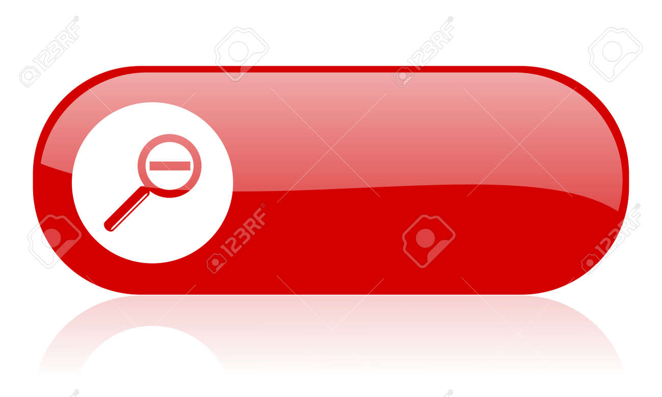 magnification red web glossy icon Stock Photo - 18361862