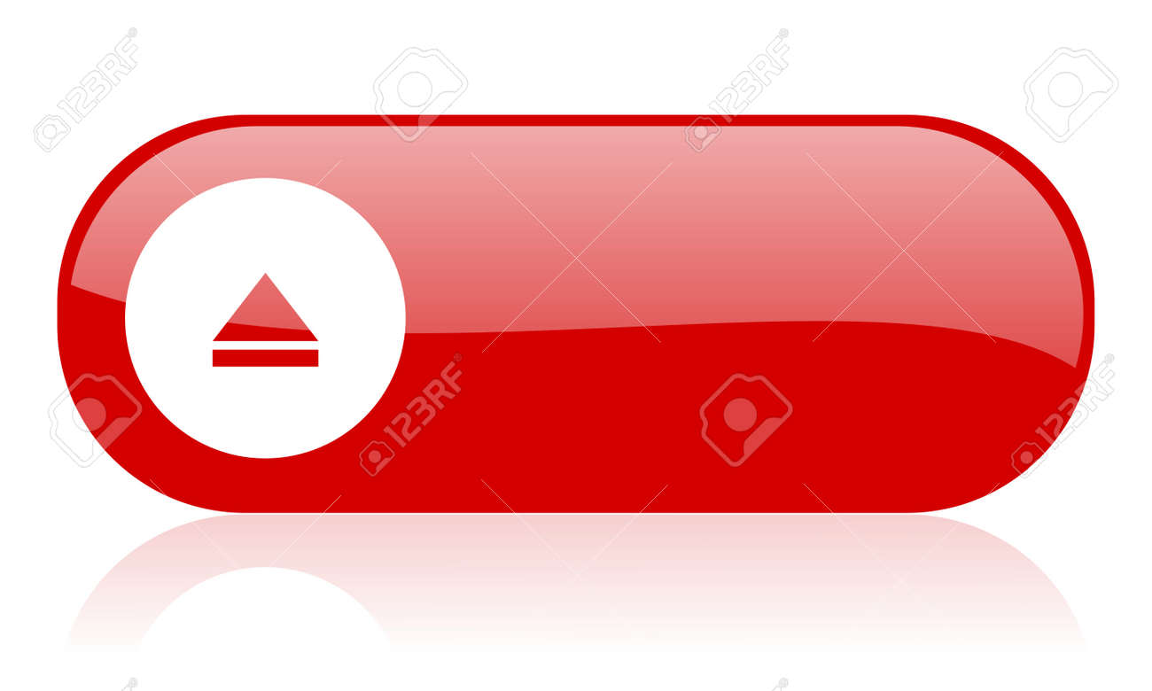 eject red web glossy icon Stock Photo - 18361484