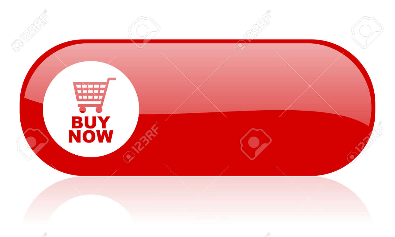 buy now red web glossy icon Stock Photo - 18362031