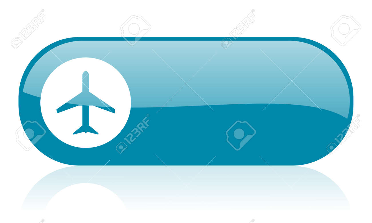 Blue Airplane Icon