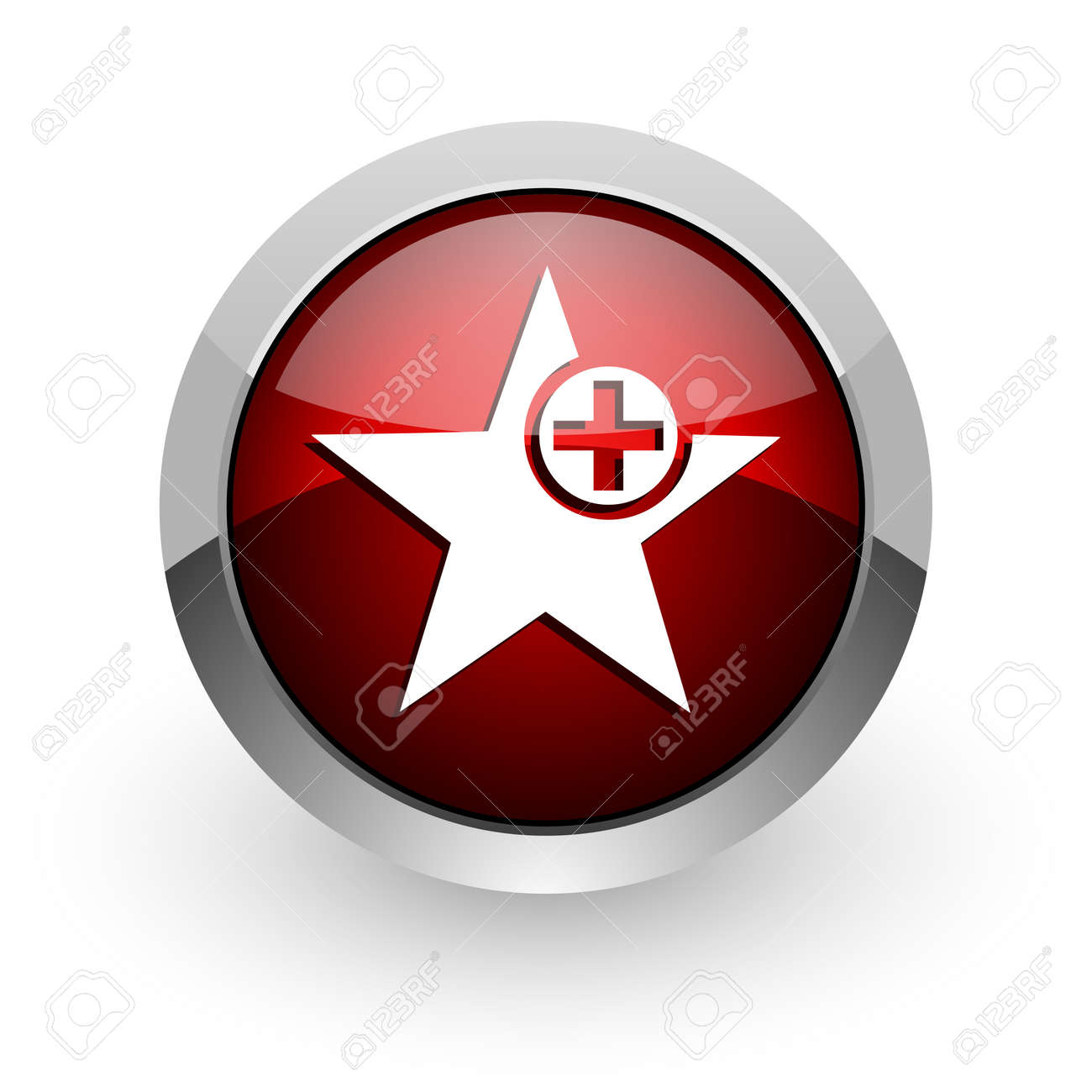 star red circle web glossy icon Stock Photo - 18578870