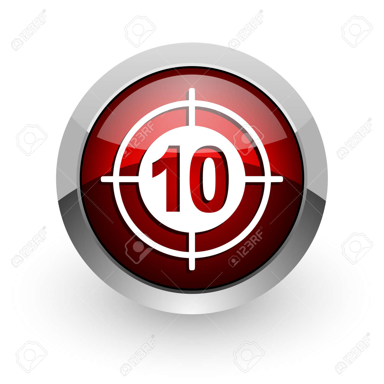 target red circle web glossy icon Stock Photo - 18579169