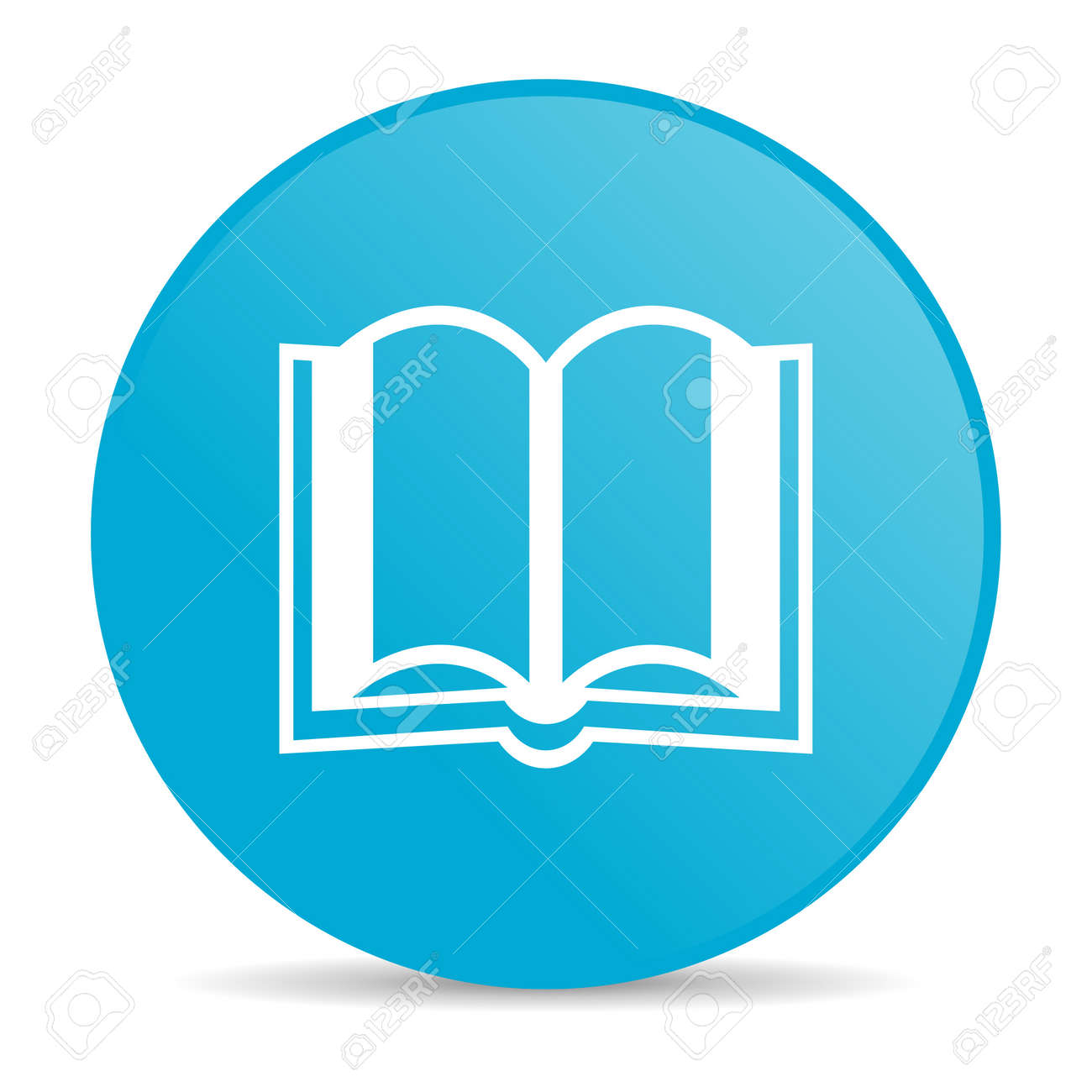Book Blue Circle Web Glossy Icon