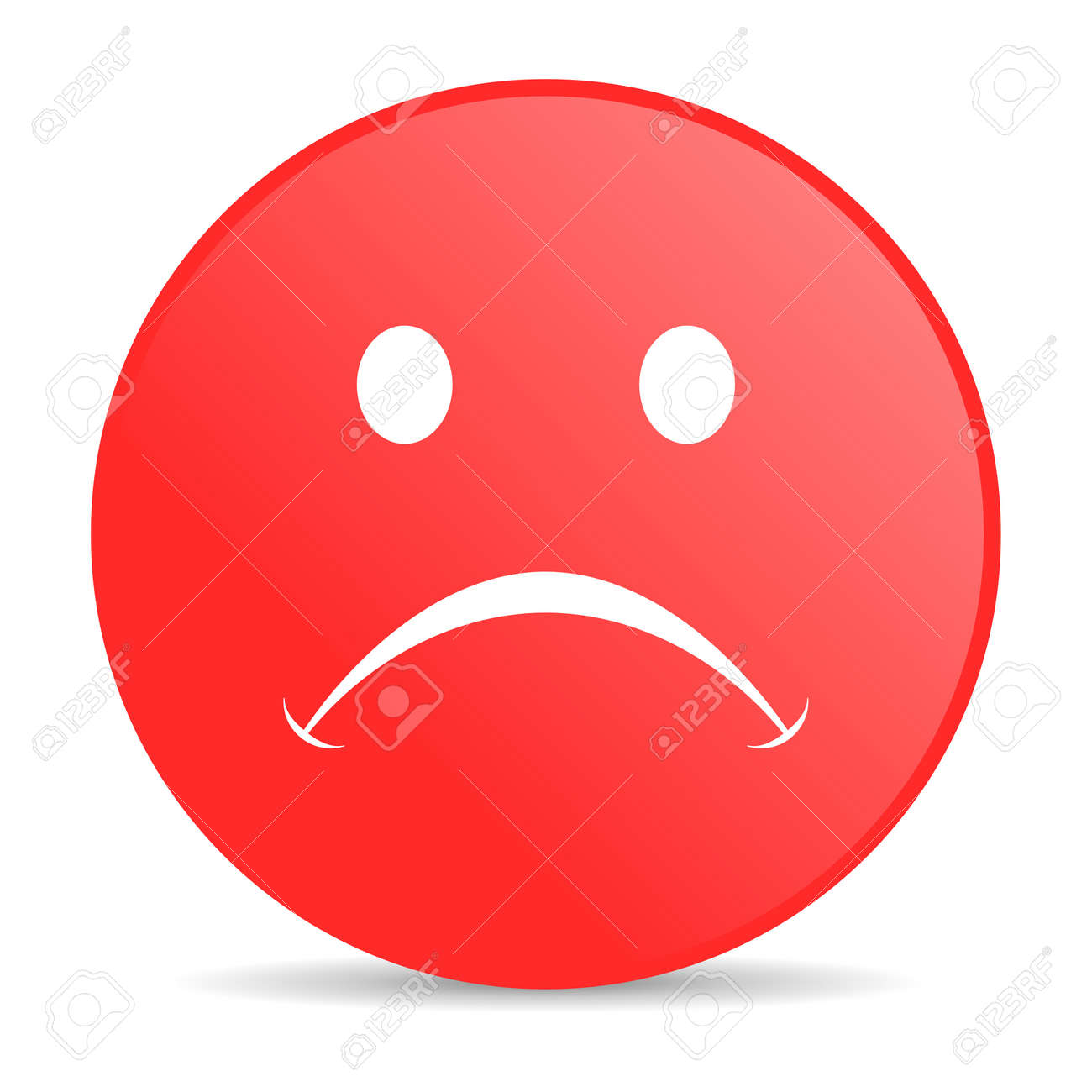 cry red circle web glossy icon Stock Photo - 19228001