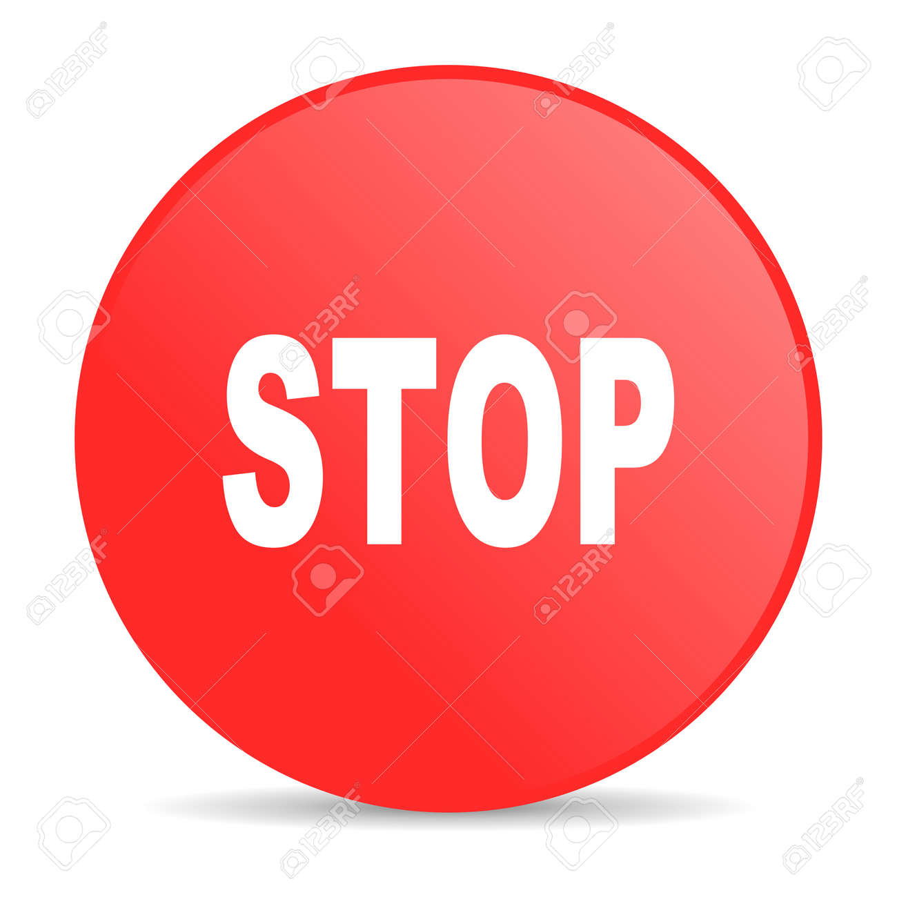 stop red circle web glossy icon Stock Photo - 19252593