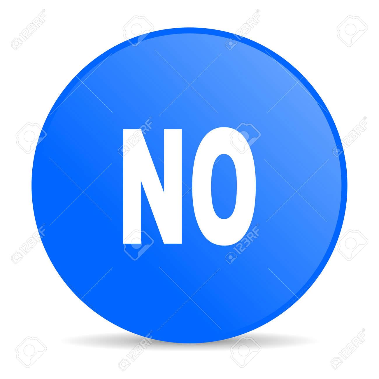 no blue circle web glossy icon Stock Photo - 19302668
