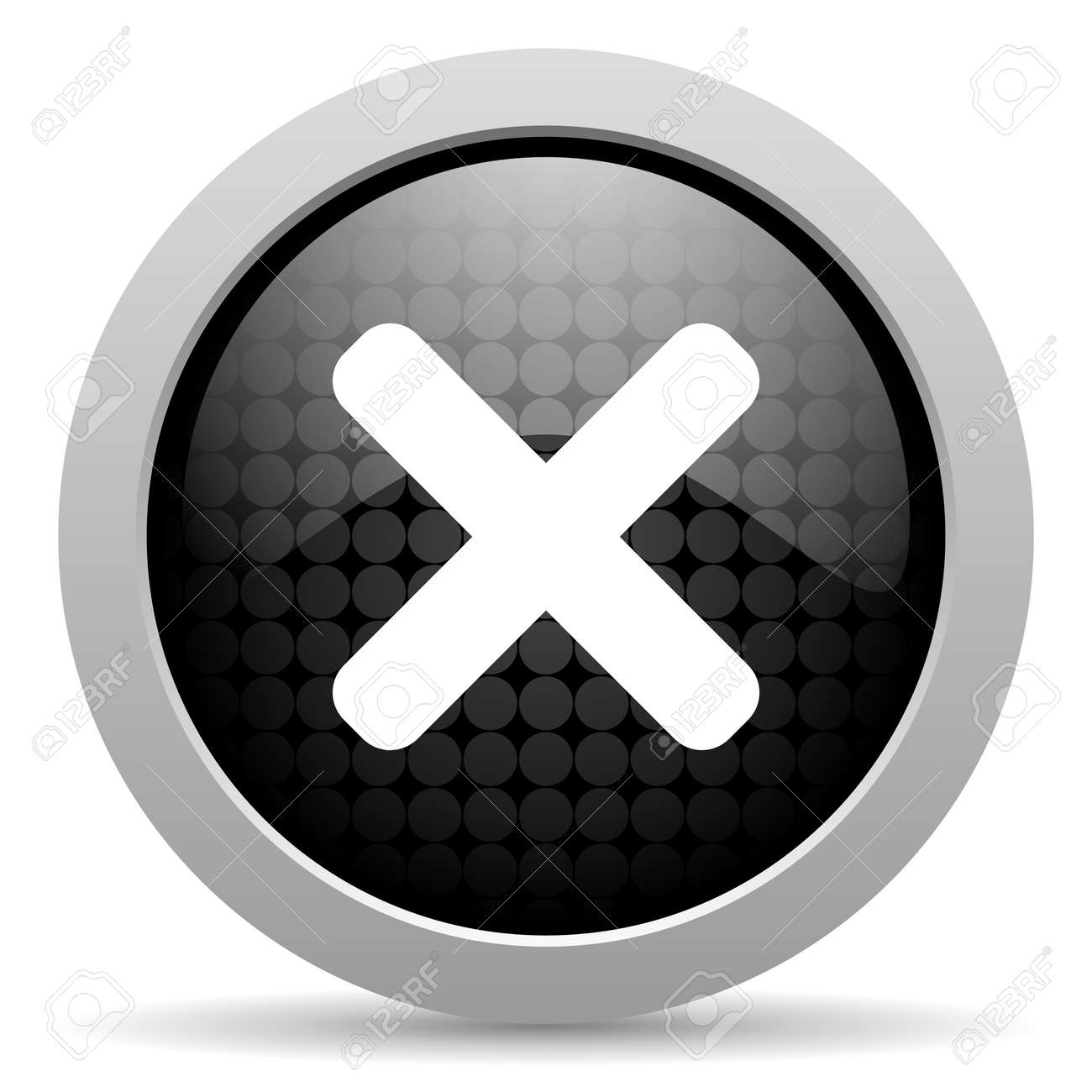 cancel black circle web glossy icon Stock Photo - 19347465