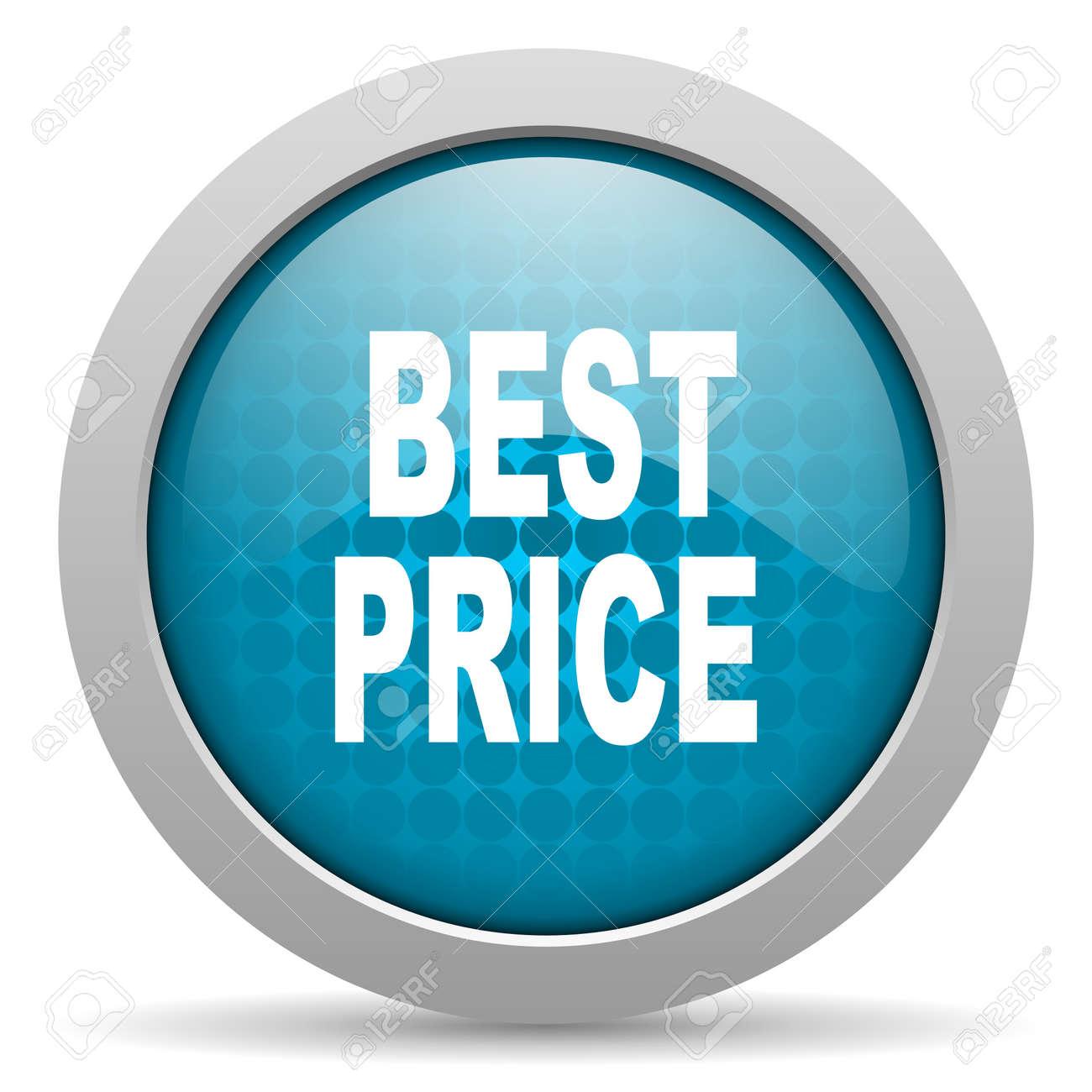 best price blue circle web glossy icon Stock Photo - 19348227