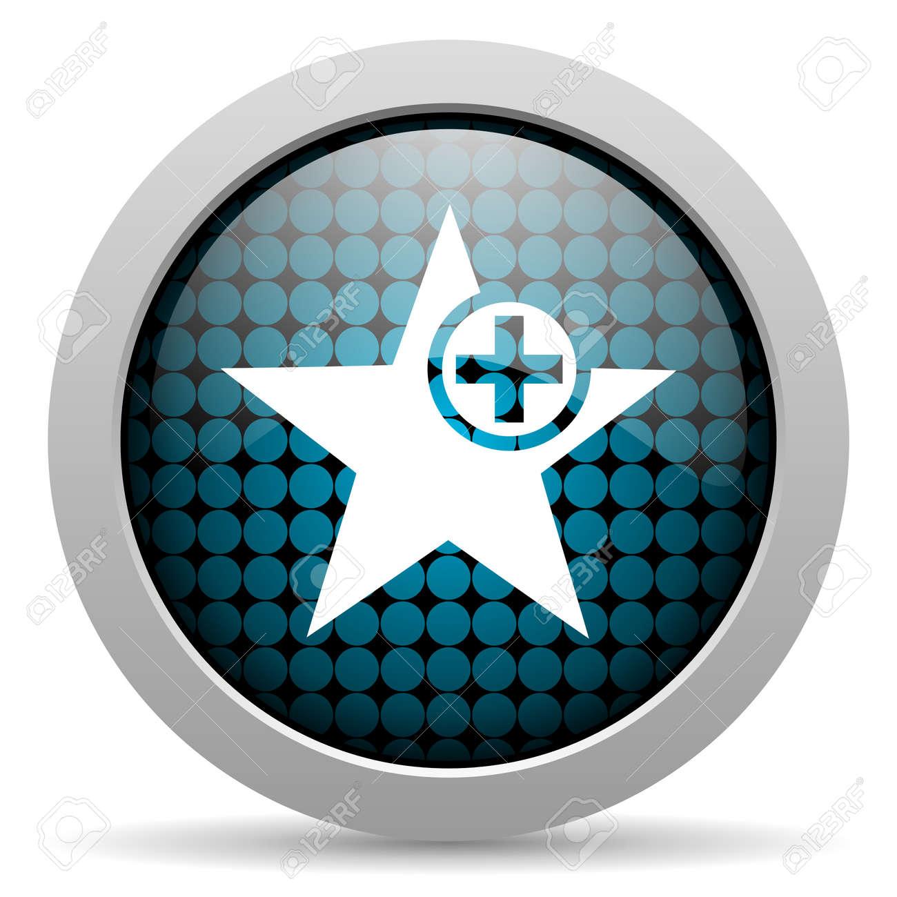 star glossy icon Stock Photo - 19512532