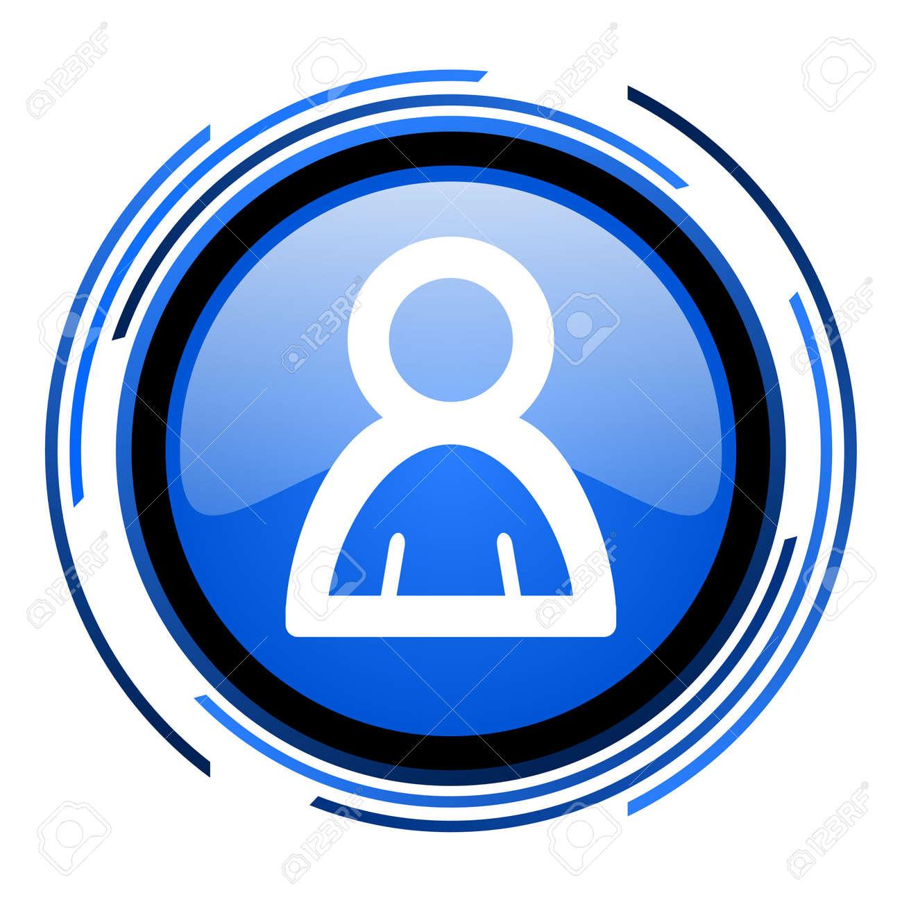 account circle blue glossy icon Stock Photo - 20205591