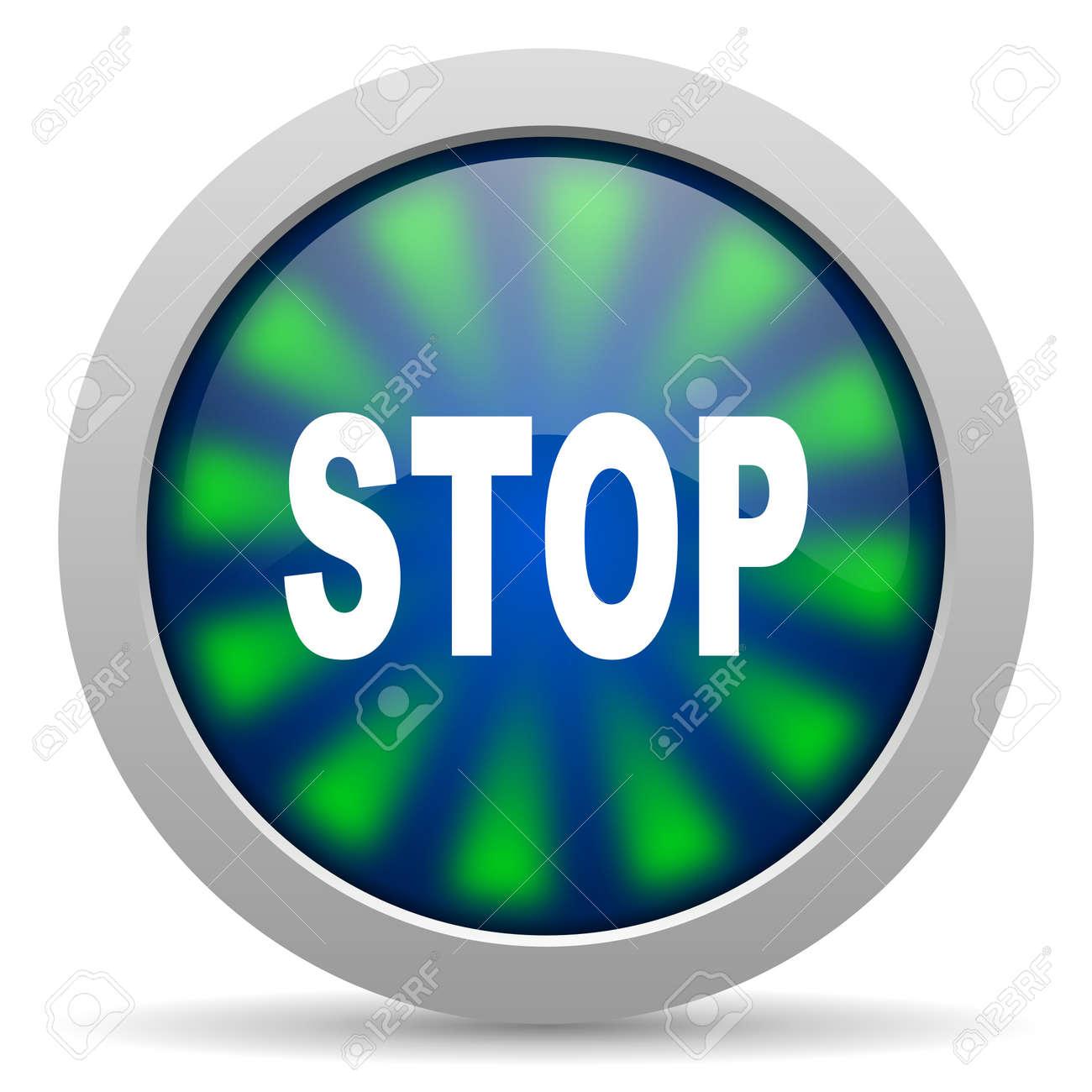 stop icon Stock Photo - 20223752