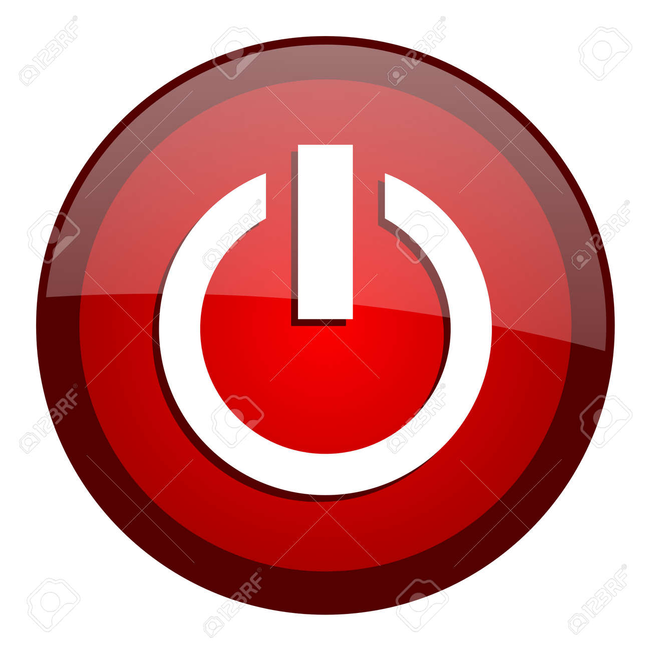 power icon Stock Photo - 20644835