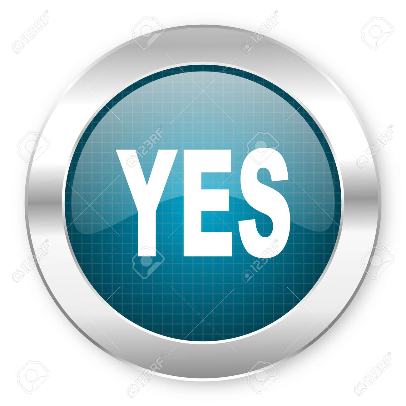 yes icon Stock Photo - 21081698