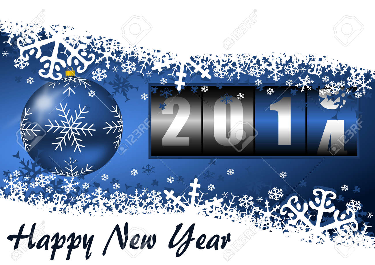 2014 new year illustration with counter Stock Photo - 24587957