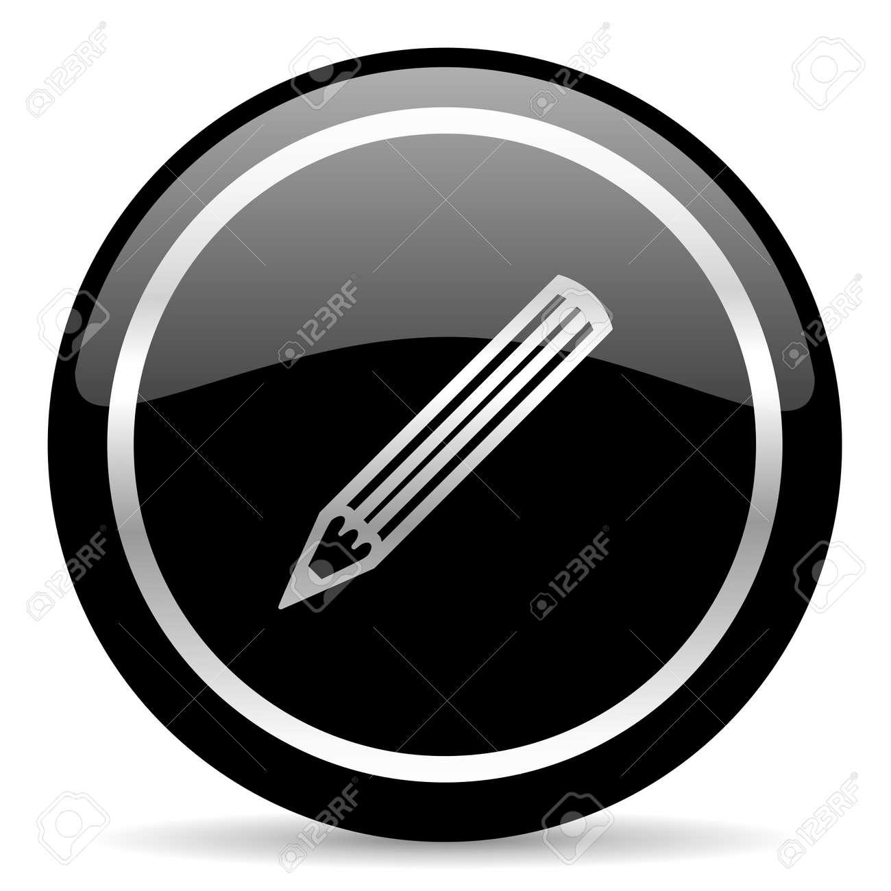 black web button on white background Stock Photo - 25886230