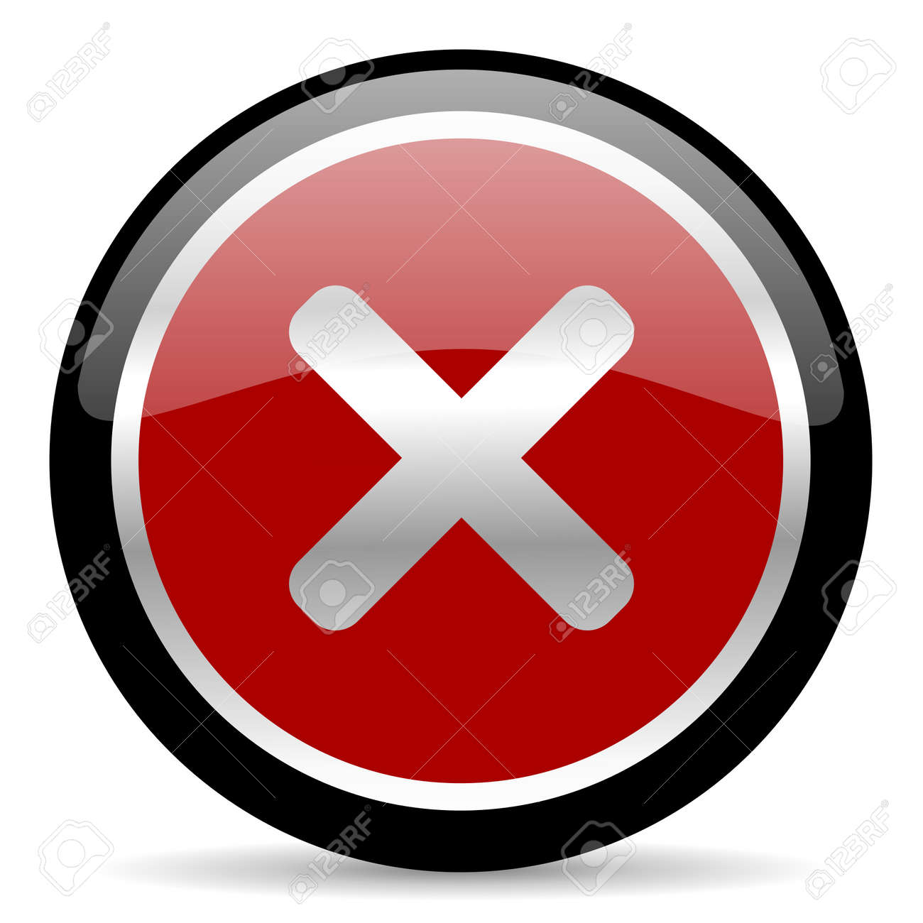 red glossy web button on white background Stock Photo - 26024613
