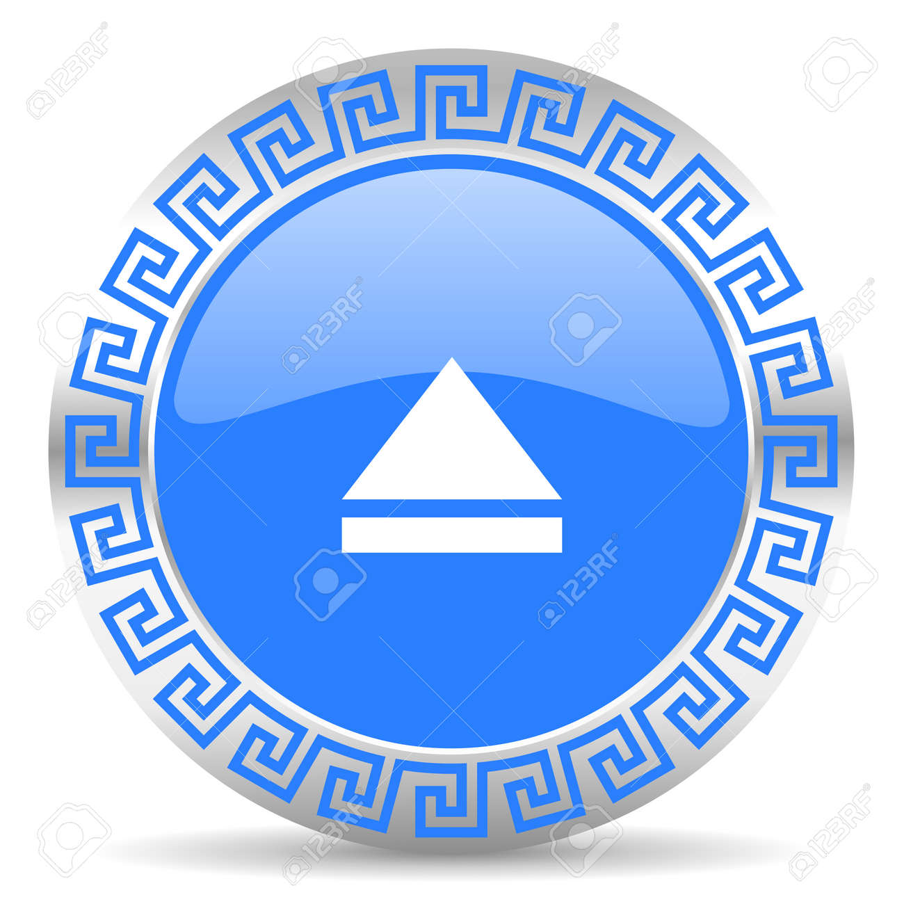 blue circle web button Stock Photo - 26028547