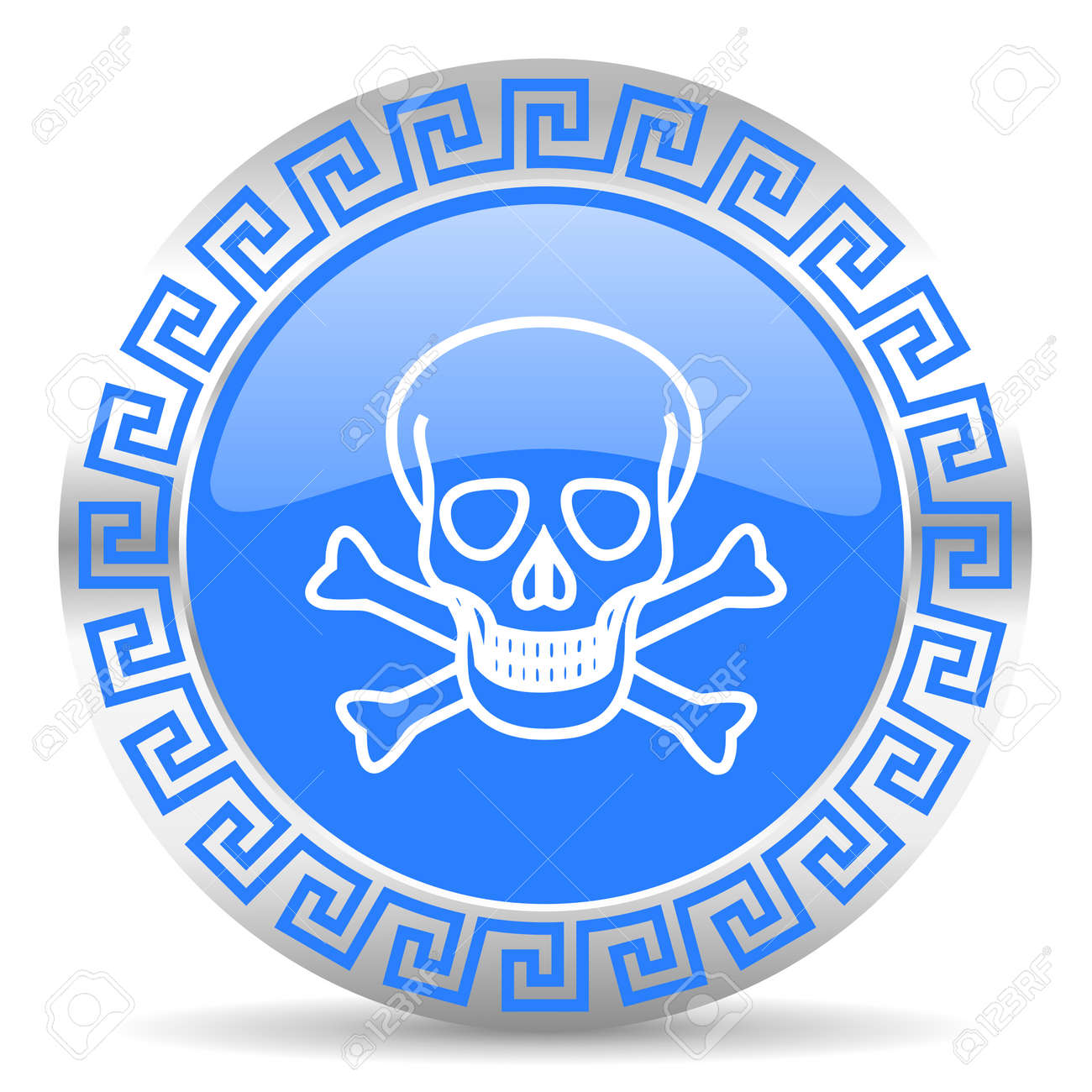 blue circle web button Stock Photo - 26026896