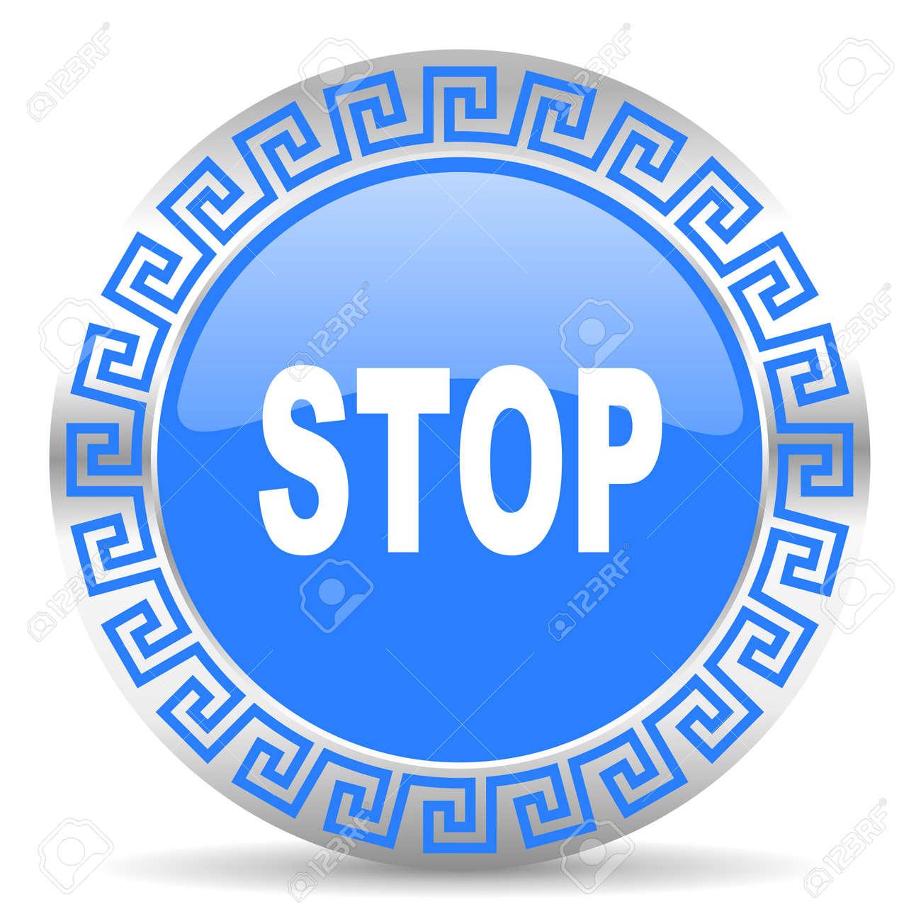 blue circle web button Stock Photo - 26024757